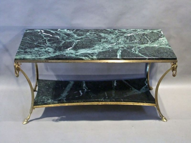 Green Marble Coffee Table Stock Decorative Antiques