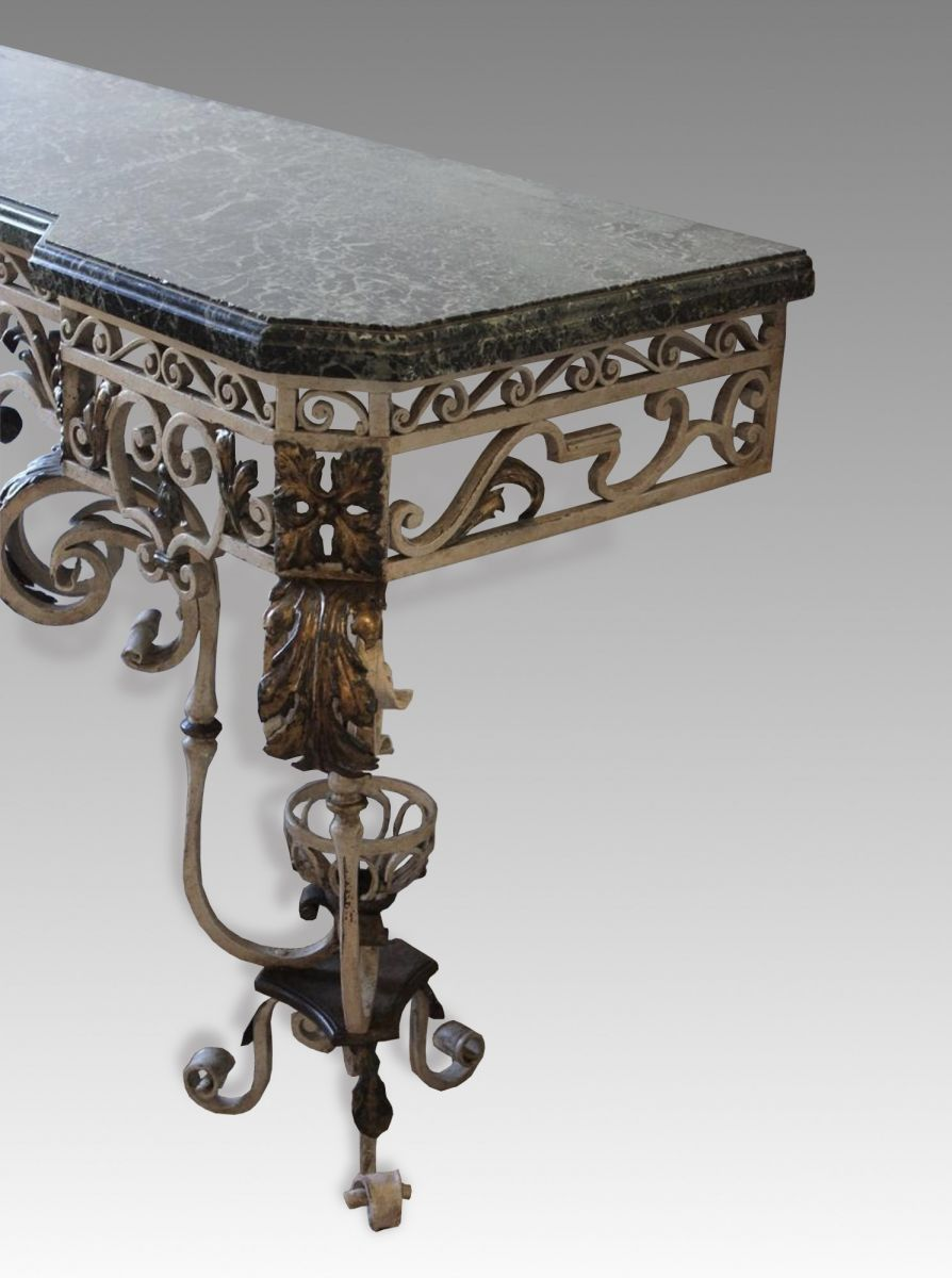 Wrought Iron Console Table Stock Decorative Antiques